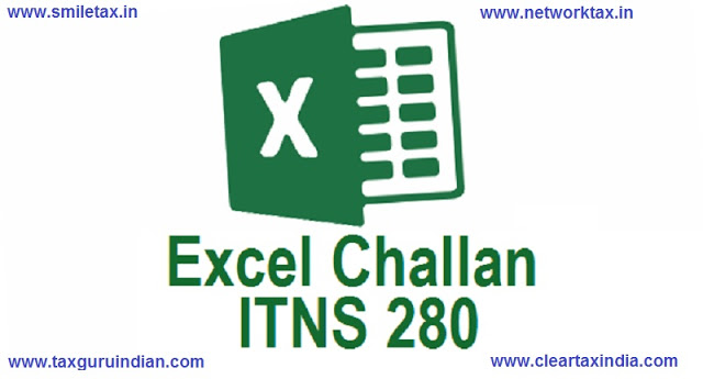 Download Automated Excel Based Income Tax Deposit Challan 280 FY 2019-20 AY 2020-21 | Tax Guru Indian